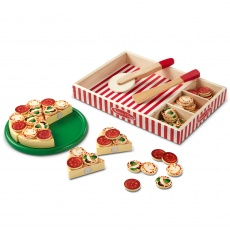 Drewniana pizza do krojenia Melissa & Doug - Pizza Party