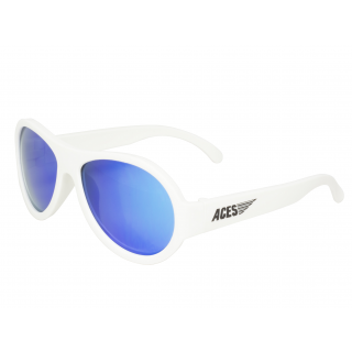 Okularki przeciwsł. Aviator Babiators <br> od 7 do 14 lat Wicked White - Blue Lens