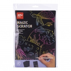 Zestaw wydrapywanek Apli Kids - Magic Scratch A4