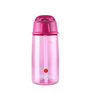 Bidon Flip-Top LittleLife 550ml - Pink